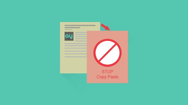 11 Dampak Blog Bila Artikel Hasil Copy Paste dan di Copy Paste