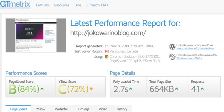 Cara Cek Kecepatan Blog Untuk Keperluan SEO