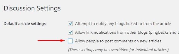 Cara menonaktifkan komentar untuk semua postingan baru
