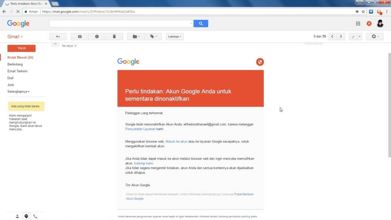 11 Cara Mengembalikan Akun Google Yang Disable