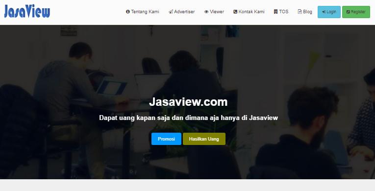 Jasaview.com Tempat Mencari Uang Hanya Dengan Melihat Iklan